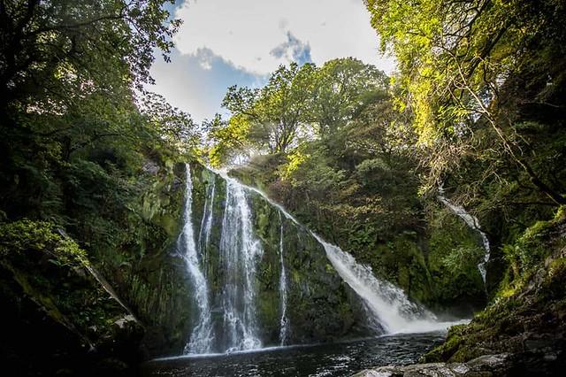 Waterfall in llanberis
