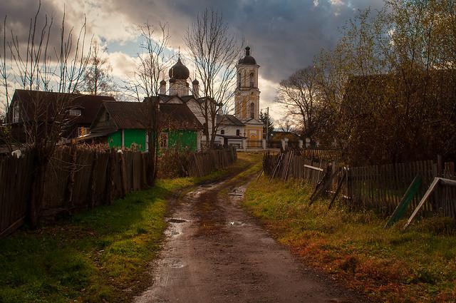 October evening in Staraya Russa