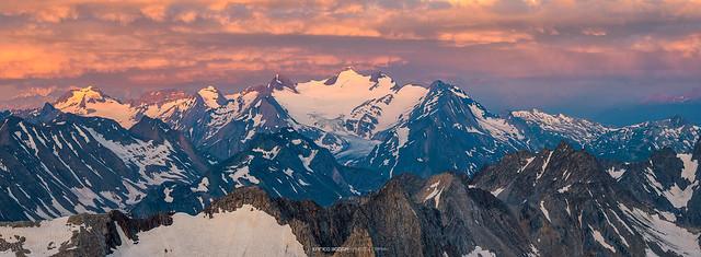 #020 Regione del Blinnenhorn con il ghiacciaio del Gries