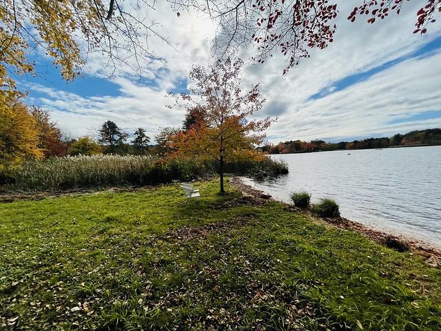 Tiogue Lake in Autumn