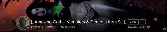 Amazing Goths, Vampires & Demons from SL * Cover
