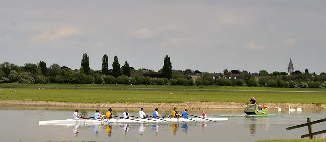 Training on the Thames, Port Meadow, Oxford, England
