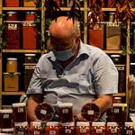 Shop owner at Mercat de la Boqueria