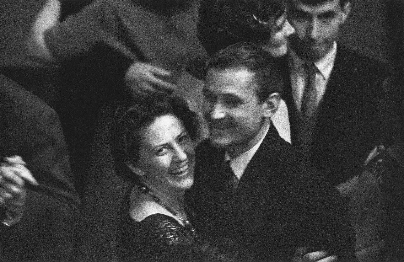 1961. Актриса Моника Миронайте и художник Римтаутас Винцентас Гибавичюс