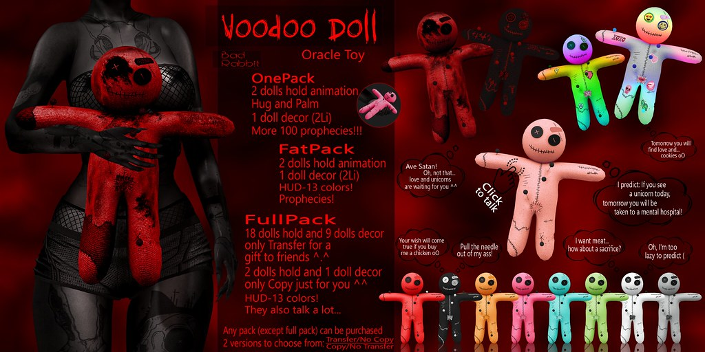 .:Bad Rabbit:. Voodoo Doll Oracle Toy CONTEST GIVEAWAY!!!!!