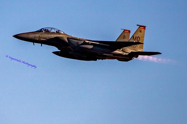 Dusk departure F-15E Strike Eagle