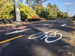 Upgraded bike trail