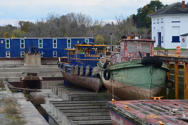 Erie Canal drydock - Lyons, NY