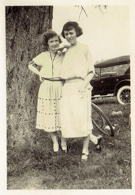 Lillian Klem (right) and Friend, circa 1920