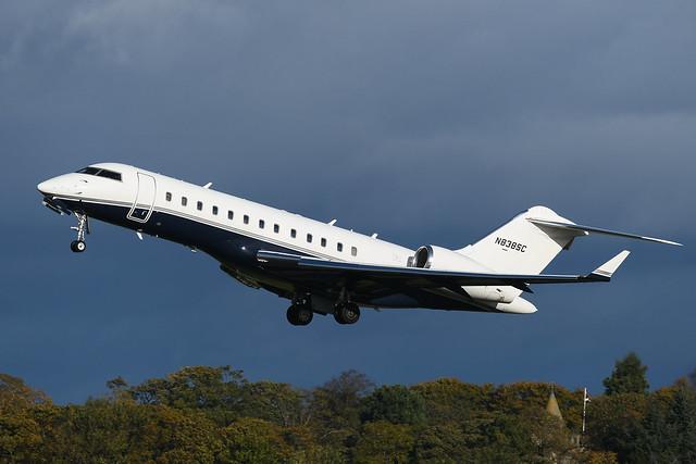 N838SC Bombardier Global Express EGPH 24-10-21