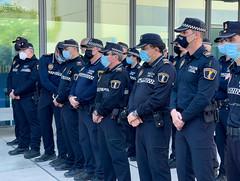 25 10 2021 homenaje minuto silencio policia fallecido