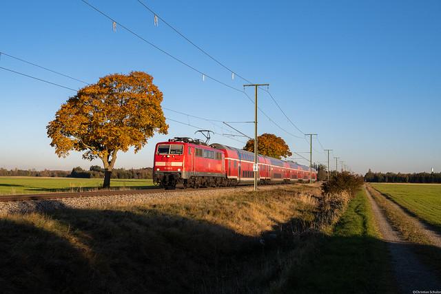 DB Regio 111 091 | Rammingen, 24.10.2021