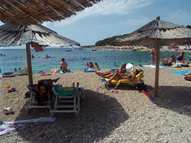 The Beach at Primosten Croatia, August 2021