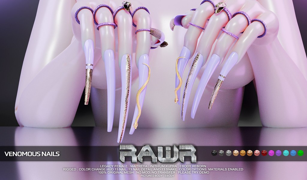 RAWR! Venomous Nails PIC