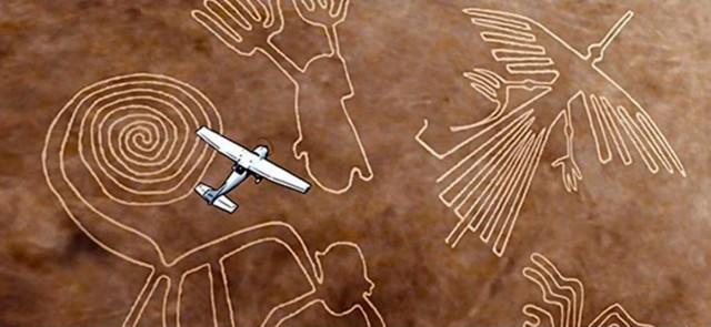 Nazca - Perú, 2021. Figuras en la pampa