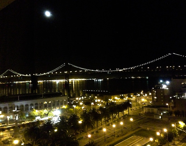 Bay Bridge & Moon