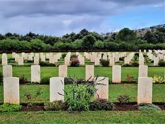 White gravestones - innocence.