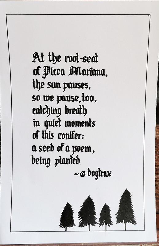 Poem Calligraphied