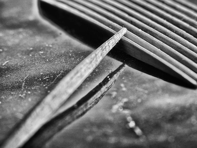 Zahnstocher – Industrie Produkt Schwarz Weiß Makro Kunst Fotografie.
