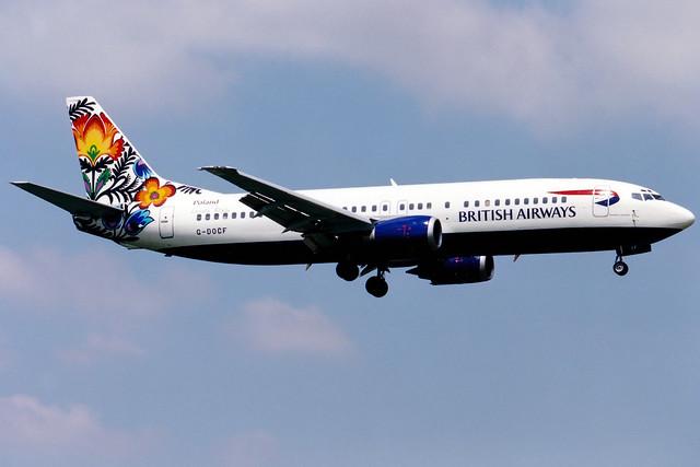 British Airways | Boeing 737-400 | G-DOCF | Flowers of Lowicz | London Gatwick