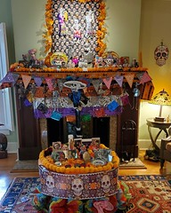 Almost ready for Los Dios de Los Muertos. My ofrenda honoring and remembering family and friends who raised me, shaped my life, and loved me. Still need candles and favorite foods to be ready.