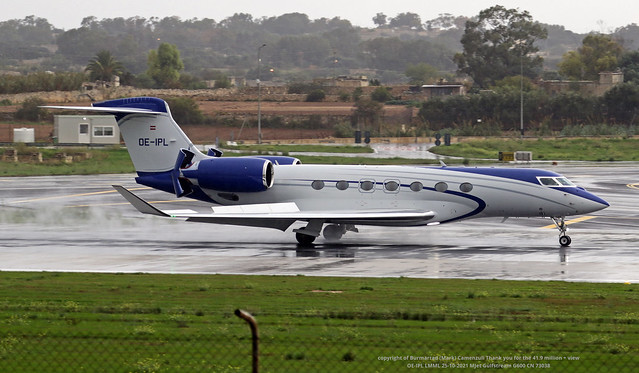 OE-IPL LMML 25-10-2021 MJet Gulfstream G600 CN 73038