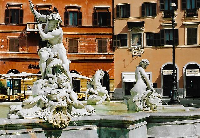 Rome, Piazza Navona, Fountain of Neptune