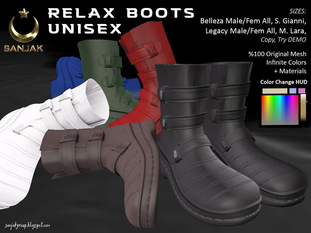 Relax Boots Unisex Infinite Colors HUD Sanjak
