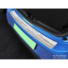 Stainless Steel Rear bumper protector suitable for Smart ForFour 453 incl. EQ 'Ribs'