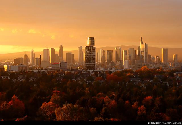 Golden Autumn Sunset, Frankfurt, Germany