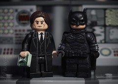 Custom LEGO Batman and Bruce Wayne