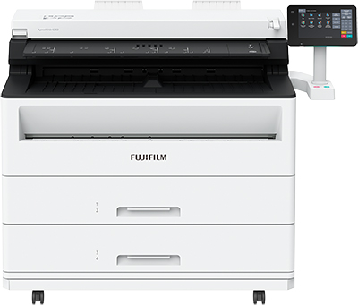 The new ApeosWide 3030/6050 monochrome wide-format multifunction printers from Fujifilm Business Innovation support secure scanning and printing for engineering drawings in the manufacturing, construction and facility management industries.