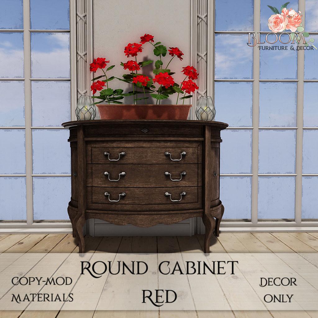 Bloom! – Round Cabinet RedAD
