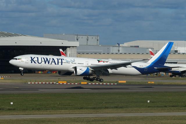 9K-AOJ Boeing B777-369(ER) EGLL 21-10-21