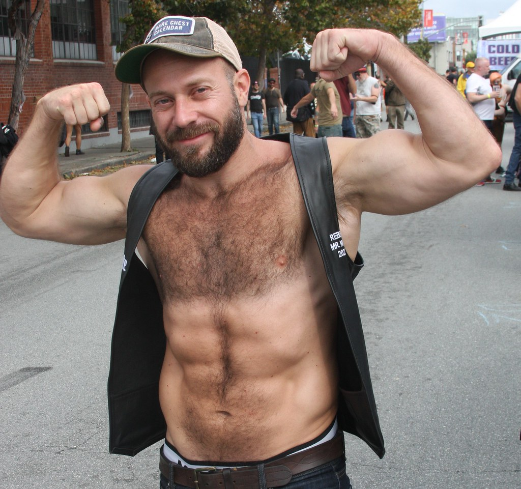 HOT, HANDSOME & HAIRY,  MUSCLE STUD  ! photographed by ADDA DADA ! ~ BEARRISON  STREET FAIR 2021 !  (safe photo) (50+ faves)