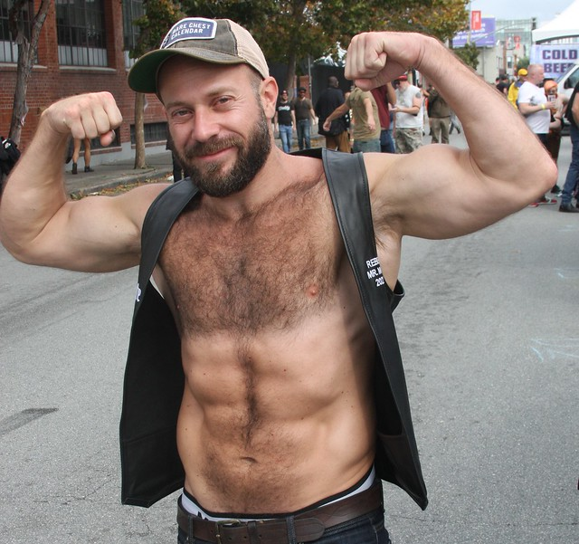 HOT, HANDSOME & HAIRY,  MUSCLE STUD  ! photographed by ADDA DADA ! ~ BEARRISON  STREET FAIR 2021 !  (safe photo)