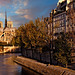 View of Notre Dame Cathedral and Quai d