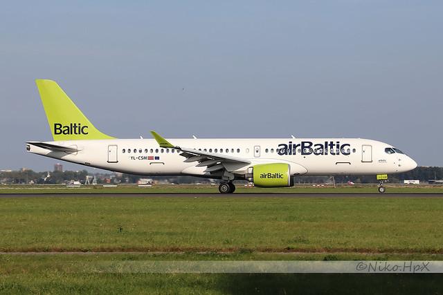 Airbus A220-371 Air Baltic YL-CSM