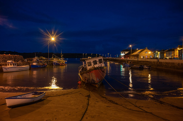 Youghal Harbour at night