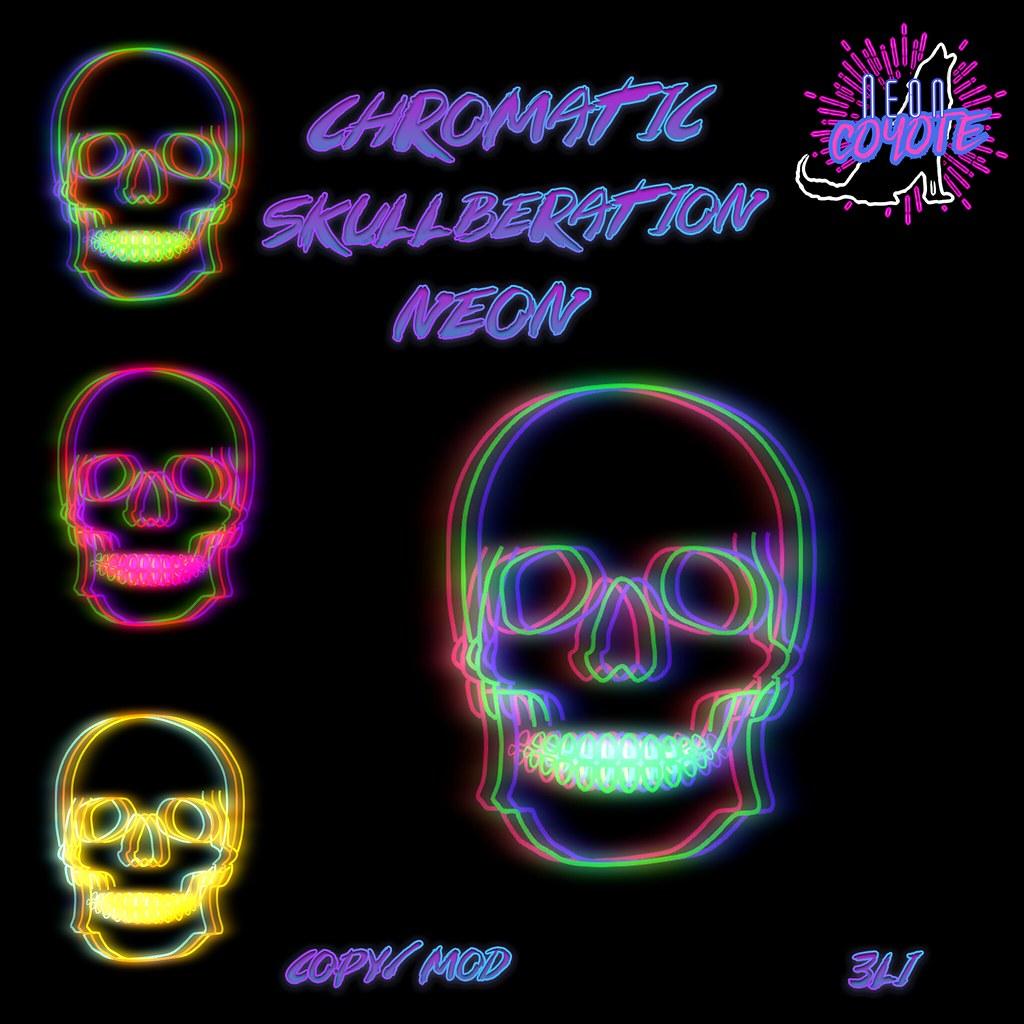 neonCOYOTE – chromatic skullberation neon