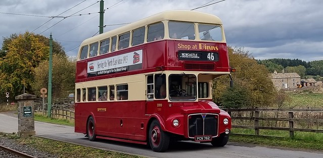 AEC Routemaster Body Park Royal H41/31F Northern General PCN 762 doing tours of Beamish Museum