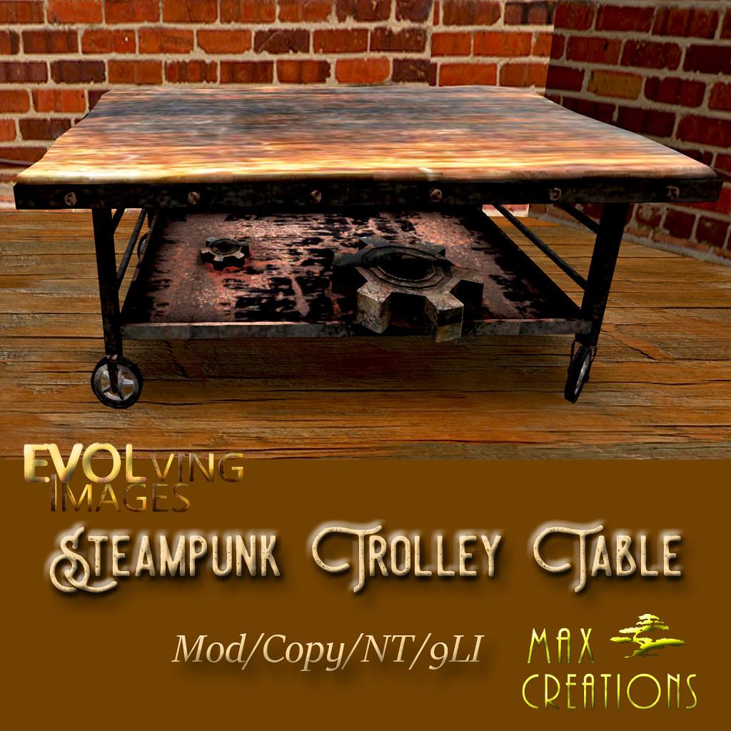 Steampunk Trolley Table