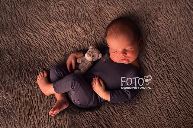 Sleeping newborn boy