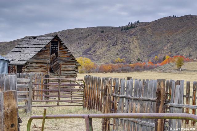 Log Barn and Corral