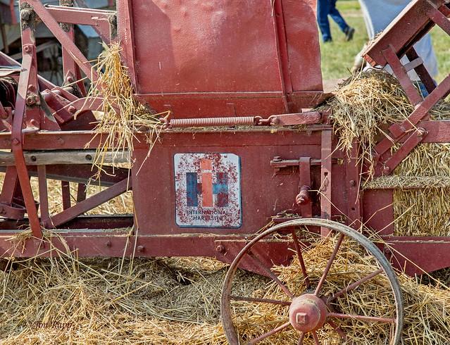 International Harvester Baler driven by Farmall A tractor 1b (edit)