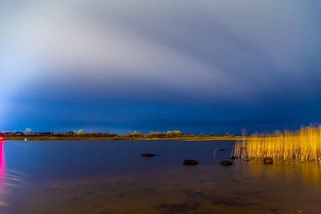 Night on Vuoksa river