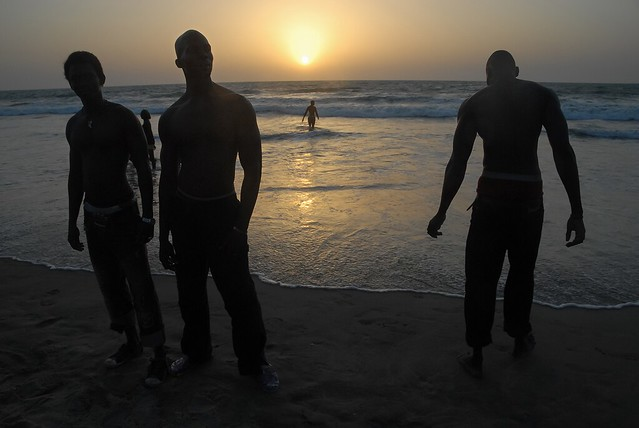 3 friends on the beach - The Gambia