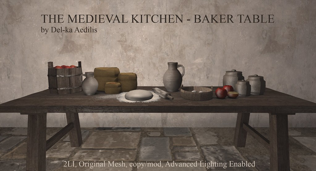 The Medieval Kitchen – Baker Table