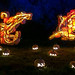 Carved pumpkin sculptures, Great Jack O'lantern Blaze