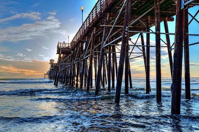 O'Side Pier Sunset 1-10-20-21-6D-17X40